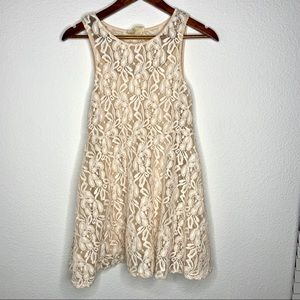 3/$30 free people cream lace boho dress